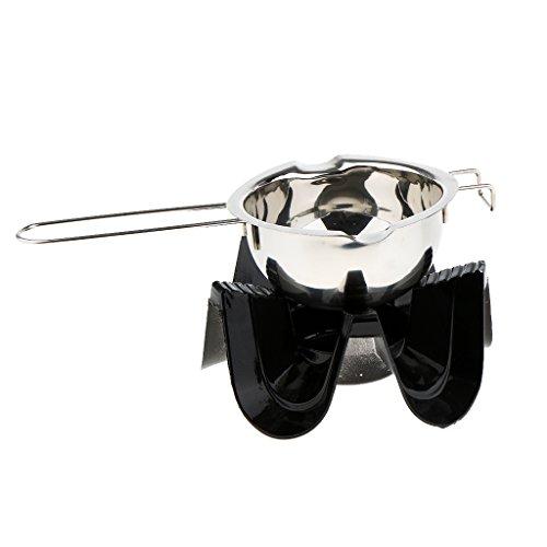MagiDeal Edelstahl Schmelztopf Schmelzschüssel mit Teelicht Wärmer Teewärmer Kerzenständer (Schmelztiegel Wärmer Wachs Für)