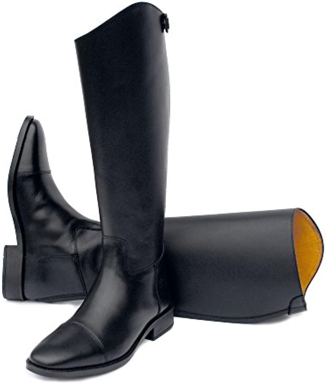 Rhineoro, stivali in pelle nera da equitazione, serie 2017, con raccordi per regolare la larghezza, Width 1   Menu elegante e robusto    Gentiluomo/Signora Scarpa
