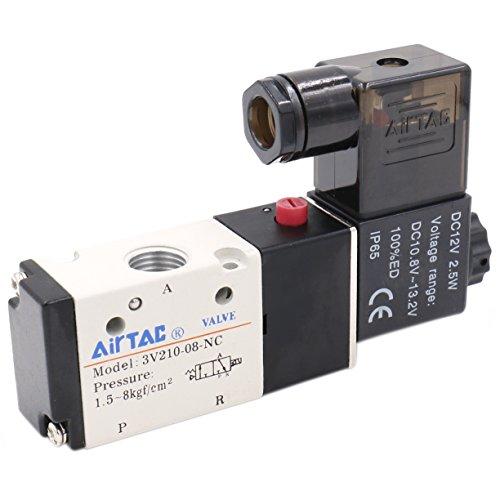 heschen Elektrische Pneumatische Magnetventil 3V210-0812VDC 2,5W PT1/43/2Wege CE - 2 Magnetventil