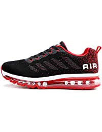 Axcone Homme Femme Air Running Baskets Chaussures Outdoor Running Gym Fitness Sport Sneakers Style Multicolore Respirante - 34EU-46EU