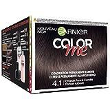 Garnier Color Me Coloration Cheveux Permanente Châtain Foncé Cendré 4.1 - Lot de 3