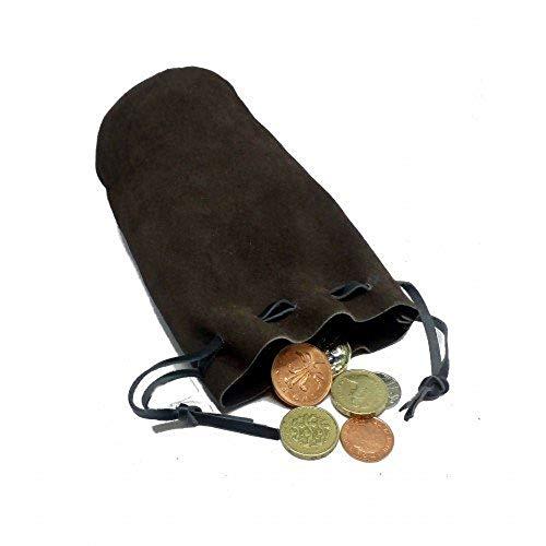 Heroic Battles Emporium Geldbörse mit Kordelzug für Münzen, Piratenkostüm, Leder, Motiv: LARP (Kostüme Ren Faire)
