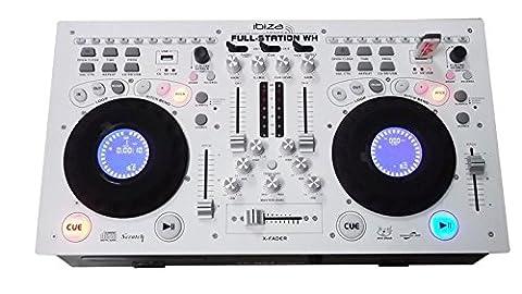 Ibiza FULL-STATION-WH Mixeur DJ Blanc