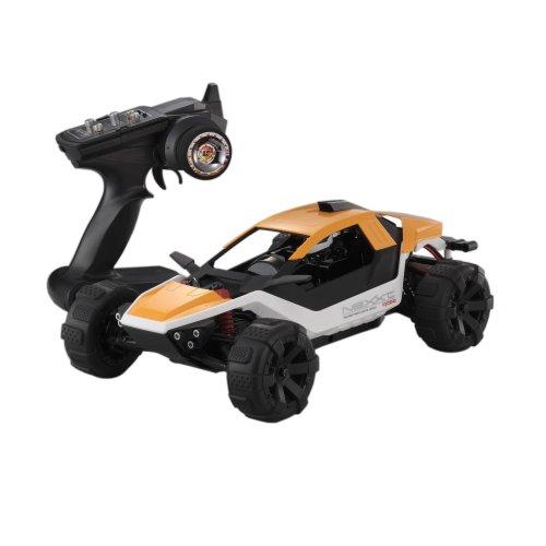 Kyosho - 30834T1 - Radio Commande, Véhicule Miniature - Nexxt Buggy Electrique Readyset 2WD - KT200/2,4 Ghz - 1:10 ème - Orange