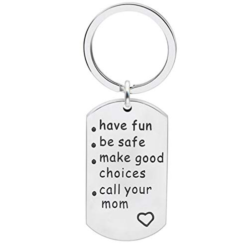 hänger Herren Freunde Dog Tag Gravur Have Fun Be Safe Make Good Choices. Schlüsselbund Edelstahl ()