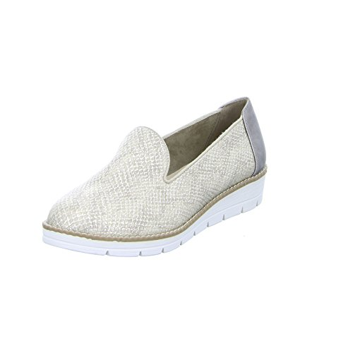 living Updated 63235 Damen Slipper Halbschuh sportlicher Boden Casual Gold (Gold)