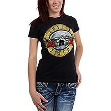 Guns n Roses - - Bullet camiseta apenada de las mujeres