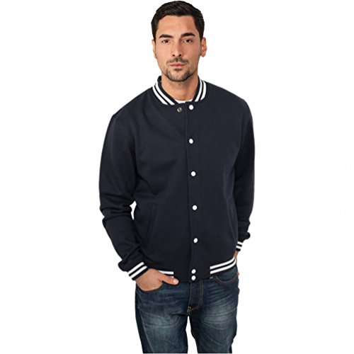 Urban Classics College Sweatjacket, Felpa Uomo Navy