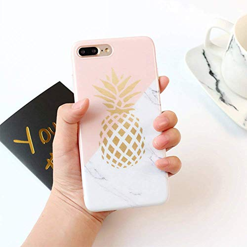 LCHULLE Cute Cover for iPhone 5 5S SE Case Super Lovely Soft Gel Skin Silicone Cover Friut Pineapple Design Flexible Protective Back Bumper Case Cover-Colorful Iphone Silicon Skin Cover