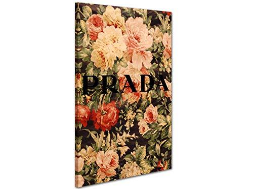 Kuader Prada Marfa Gossip Girl Vintage Blumen Prada Bild Druck Auf Leinwand Für Den Innenausbau Prv4, 100x70 cm