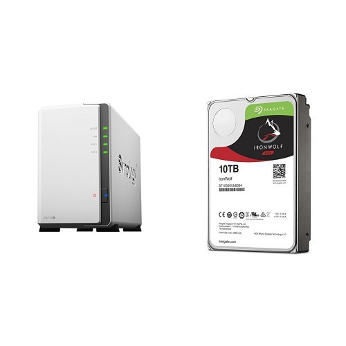 Price comparison product image Synology DS216J 20TB (2x 10TB Seagate IronWolf) 2-bay Desktop Network Attached Storage
