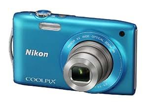 Nikon Coolpix S3300 Digitalkamera (16 Megapixel, 6-fach opt. Zoom, 6,7 cm (2,7 Zoll) Display, bildstabilisiert) blau