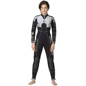 Waterproof Impermeabile W47mm muta da donna, Black/White, L Tall