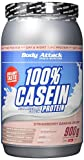 Body Attack 100% Casein Protein, Strawberry Banana, 900 g