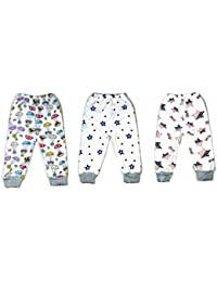 Tinny Tots Baby Winter Pajama with Inner Fur Pack Of 3
