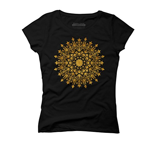 Design By Humans Damen T-Shirt Schwarz