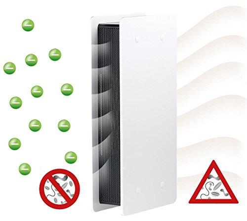 newgen medicals Ionisierer: Luftreiniger mit Ionisator und zuschaltbarem Lüfter, weiß (Luftreiniger mit Ionisator-Technik)