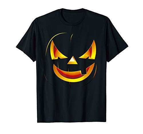 Kostüm Coole Gruselig - Halloween Kürbis Gesicht Lustiges gruselig Cool Kostüm Maske T-Shirt