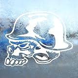 Aufkleber / Autoaufkleber / Sticker / Decal Metal Mulisha Skull Helmet White Decal Window White Sticker