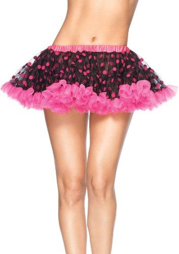 Leg Avenue A1702 - Chiffon Mini Petticoat für Erwachsene, Einheitsgröße, schwarz