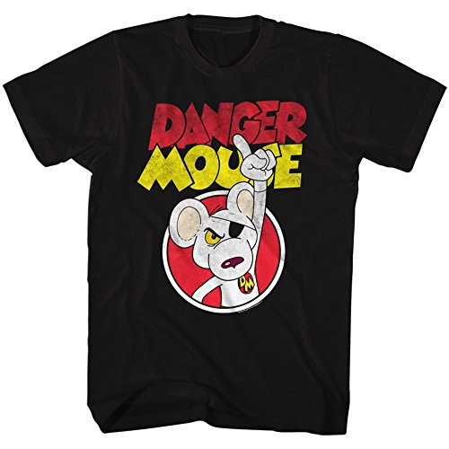 Danger Mouse - Herrendangermouse T-Shirt, Medium, Black (Mouse T-shirt Danger)