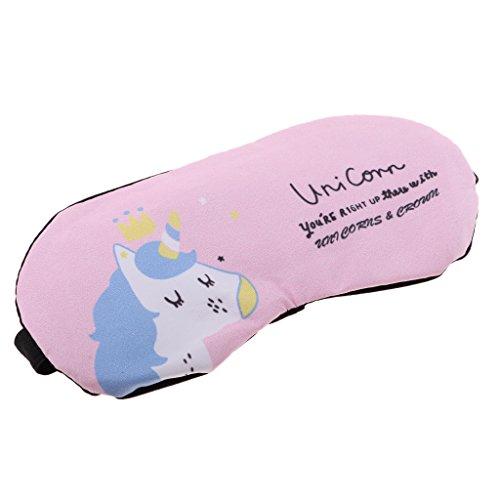 Perfeclan Máscara de Ojos Antifaces de Dormir Parche de Hielo Reutilizable para Viaje Oficina Automóvil - Unicornio Rosado