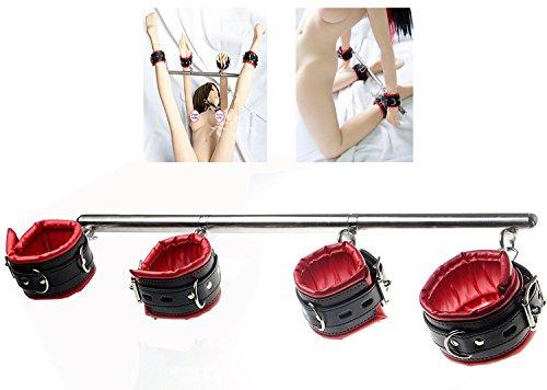 lbare Hand Fuß Fesseln Hand- und Fußfessel Fesselstange mit Metall Spreizstange ()