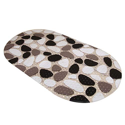 Masterein 39cmx69cm Stein-Muster PVC Badewanne Pad Antirutsch Saugnäpfe Badewanne Dusche Mat antibakterielle Anti-Rutsch-Teppichs