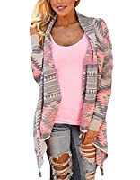 Generic Women's Open Front Fashion Long Sleeves Cardigan S Pink