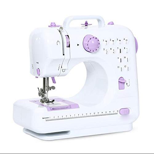 Sewing machine Máquina de Coser Mini eléctrica Pequeña 12 Programa de Costura Electrodomésticos para Principiantes Niños Bricolaje