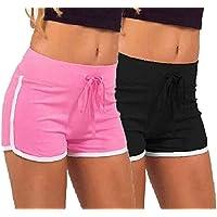 fasla Women's Cotton Shorts Multicolor,