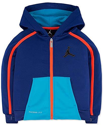 Jordan Boys Victory Zip Colorblocked Hoodie Deep Royal Size XL Colorblocked Zip