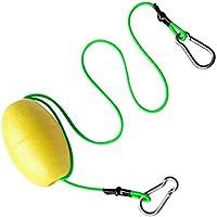 """monkeyjack flotante accesorios correa con único flotador y agarre de doble clip para kayak pesca cuerda de Bastidor 29""""& 3,8"""" x 2.56""""Float, verde, amarillo ((Yellow + Green)"""