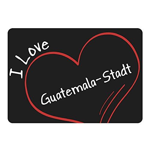 d Modern I Love Guatemala-Stadt schwarz - Lustig Witzig Sprüche Party Computer Mauspad ()