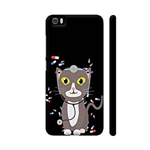 Colorpur Xiaomi Mi 5 Cover - Cat With Medical Equipment Printed Back Case