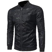 Beladla Chaqueta De Hombre OtoñO Invierno Estampado Sudaderas con Zipper Casual Sweatshirt Outwear Tops Blouse Jersey