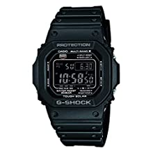 Casio G-Shock Unisex Watch in Resin with Solar Power and Snooze Feature - Rectangular Shaped & Water Resistant