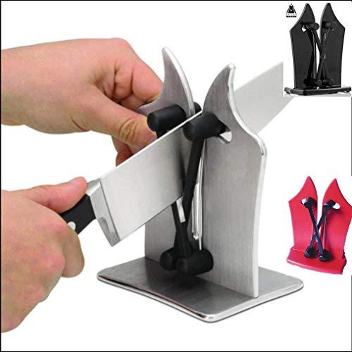 Affilacoltelli per coltelli in bracci con materiale affilante in tungsteno regolabili, affila coltelli lisci seghettati forbici