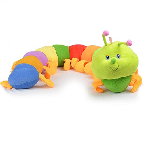 Hearsbeauty Cute Colorful Inchworm Caterpillar angenehm weiches Kids Überwurf Puppe Kissen Toy-Multicolor - Multi Color Kissen