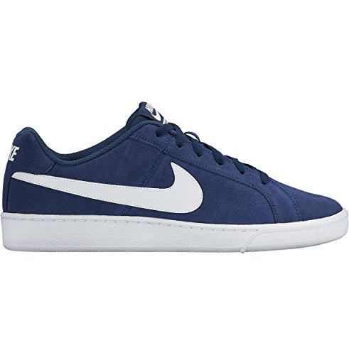 Sneaker Da Uomo In Vera Pelle Scamosciata Da Uomo Nike Blu-bianco
