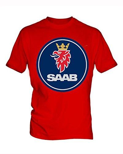 saab-logo-hombre-red-t-shirt