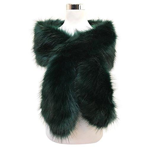 HotStyleZone - Bufanda - para mujer verde verde Large