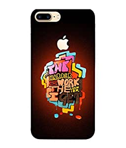 PrintVisa Designer Back Case Cover for Apple iPhone 7 Plus (Logo View Window Case) (White Abstract Illustration Colorful Graphic Attractive Vector)