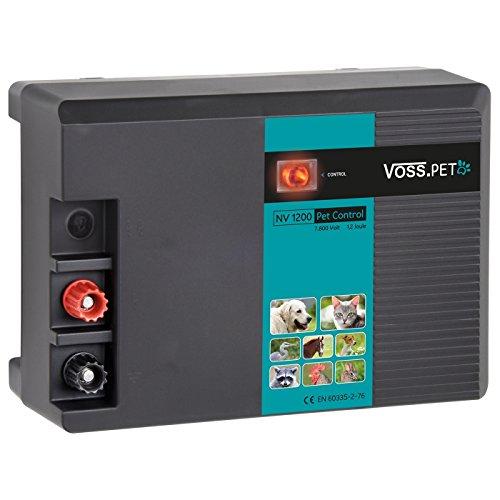 VOSS.PET 230 V Weidezaungerät NV 1200 Petfence Control Elektrozaungerät für Hunde, Katzen, Pferde, Hühner, Geflügel - Zaun Elektrischer Pferd