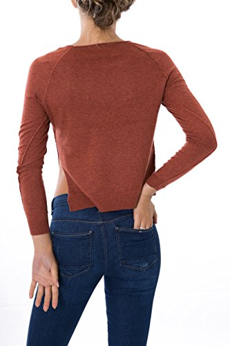 ONLY - Femme loose fit pullover tokyo pullover knit Brique