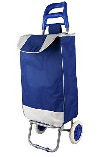 Einkaufstrolley Einkaufswagen Einkaufskorb Einkaufstasche auf Rädern Blau