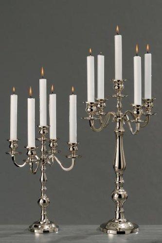 Kerzenhalter edler Kerzenleuchter 5-armig Aluminium silbern 35 cm ...