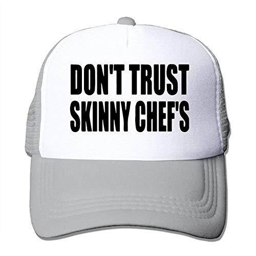 Men&Women Don't Trust Skinny Chef's Outdoor Hip Hop Mountaineering Cotton Mesh Sanpback Cap Hat Adjustable