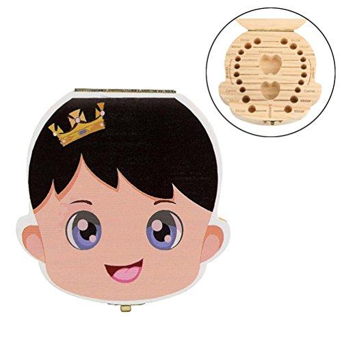 LandFox Organizzatore Per Bambino Denti da Latte Salvare Legno Stoccaggio Box Per Bambini Ragazzo
