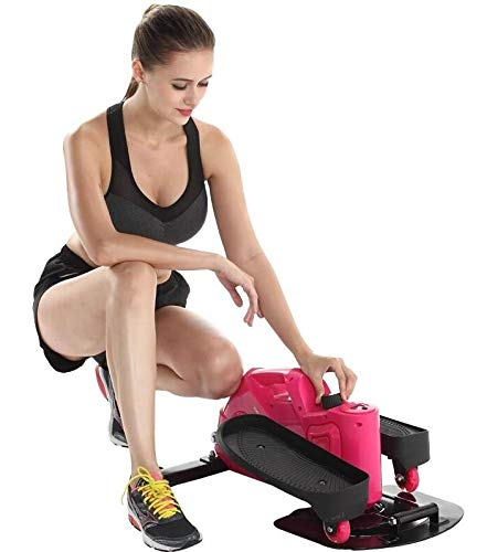41FG4KdTTmL - Lcyy-step Stepper Trainers Home Mini Walking Stepping Machine with Adjustable Resistance and LCD Display Pink